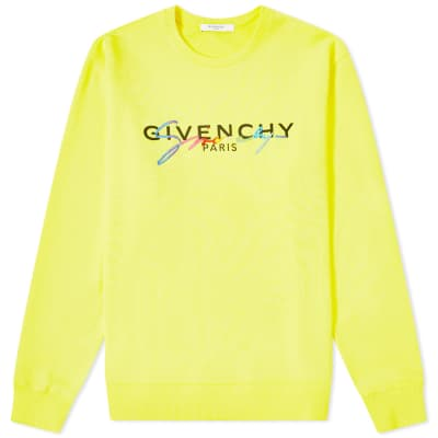 4a486920 Givenchy Rainbow Logo Crew Sweat
