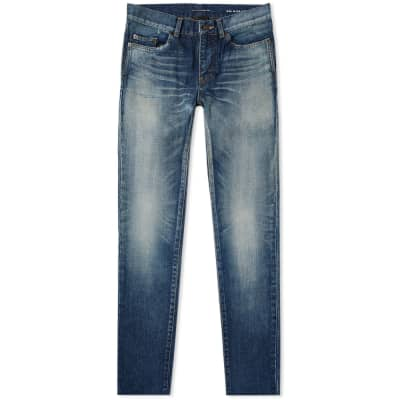 Saint Laurent Trashed Distressed Skinny Jean