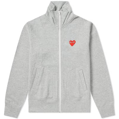 Comme des Garcons Play Women's Red Heart Zip Backprint Track Top