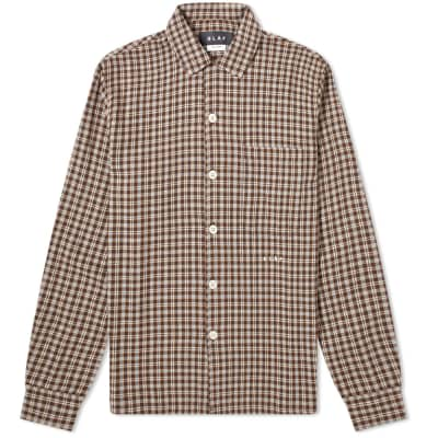 Olaf Hussein Flannel Check Overshirt
