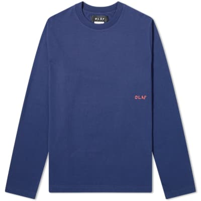 Olaf Hussein Long Sleeve Piste Ski Map Tee