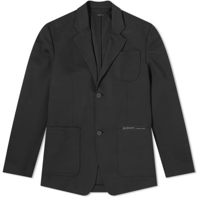 Givenchy Split Logo Jersey Blazer