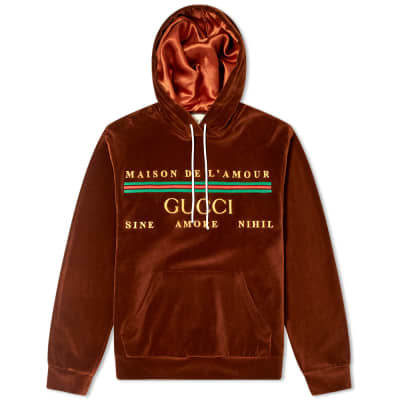Gucci Chenille Embroidered Popover Hoody