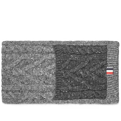 Thom Browne Mix Aran Mohair Tweed Scarf