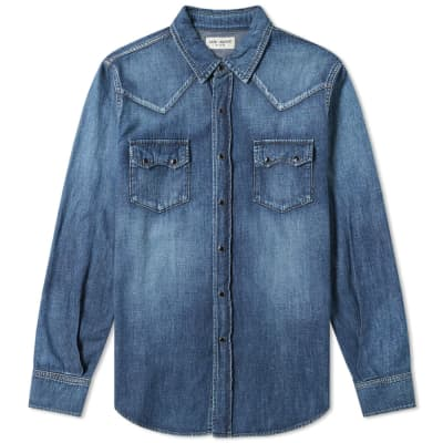 Saint Laurent Classic Texas Denim Shirt