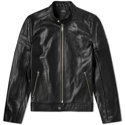 A.P.C. Coffee Racer Leather Jacket