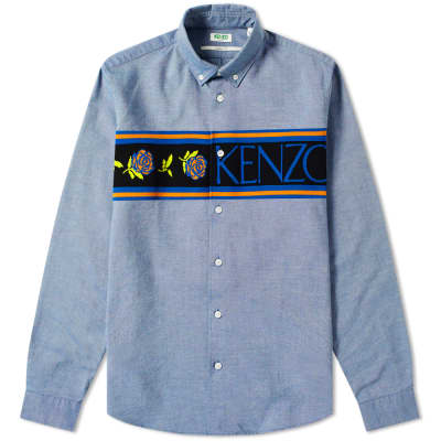 Kenzo Logo Knit Band Oxford Shirt
