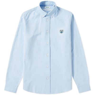 Kenzo Tiger Logo Button Down Oxford Shirt