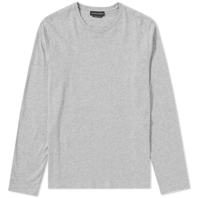 Alexander McQueen Long Sleeve Embroidered Logo Tee