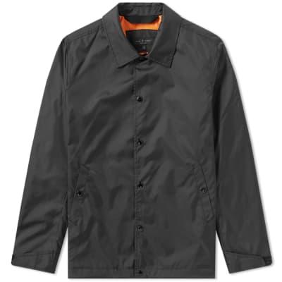 Rag & Bone Reverse Print Diamond Logo Coach Jacket