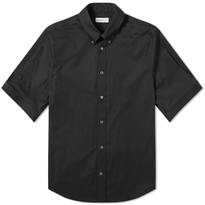 Alexander McQueen Short Sleeve Studded Collar Shirt