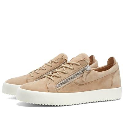 Giuseppe Zanotti Nubuck Zip Low Sneaker