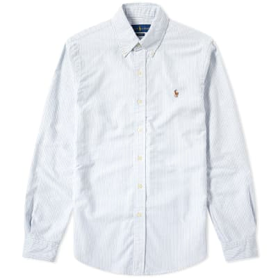 Polo Ralph Lauren Slim Fit Button Down Stripe Oxford Shirt