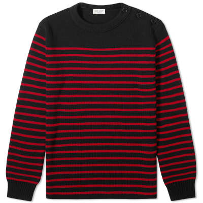 fd64f886cac Saint Laurent Stripe Sailor Crew Knit