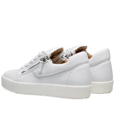 Giuseppe Zanotti Hidden Zip Tumbled Leather Low Sneaker