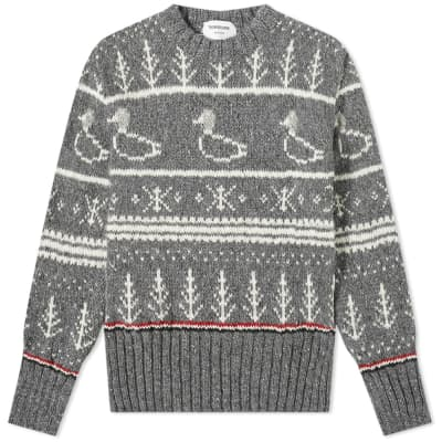 Thom Browne Duck Donegal Crew Knit