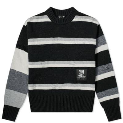 Liam Hodges Broken Stripe Crew Knit