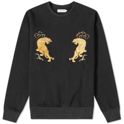 Vanquish Tiger Embroidered Crew Sweat