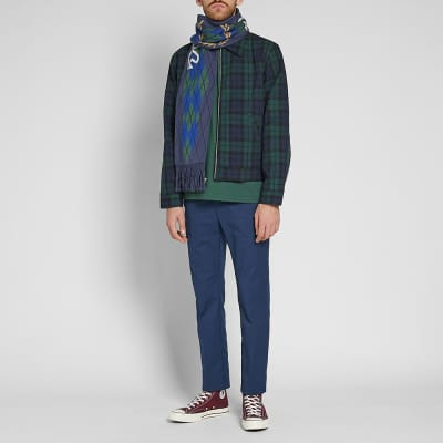 Fred Perry x Thames Argyle Scarf