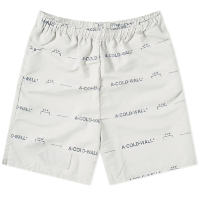 A-COLD-WALL* All Over Print Logo Short