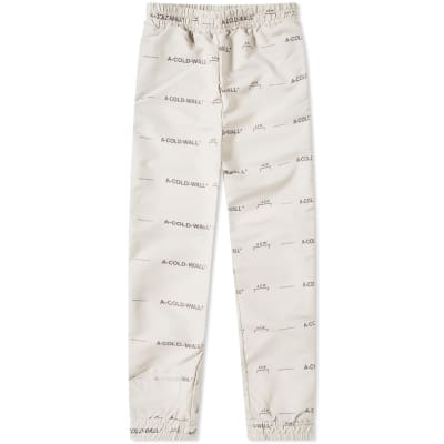 A-COLD-WALL* All Over Print Logo Pant