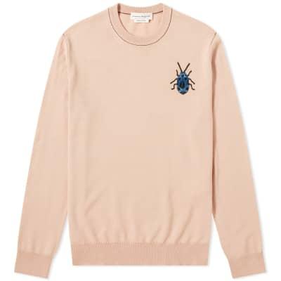 Alexander McQueen Beetle Skull Logo Crew Knit