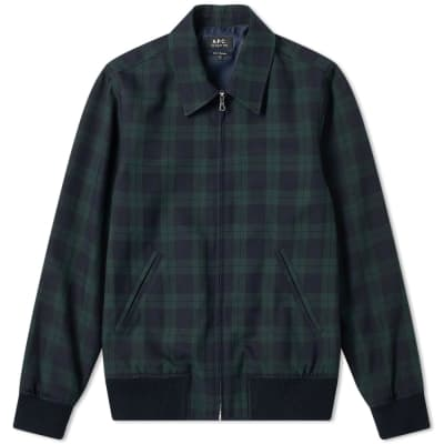 A.P.C. Check Harrington Jacket