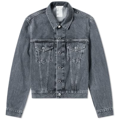 Helmut Lang Mid Stone Denim Trucker Jacket