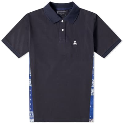 SOPHNET. Bandana Side Panel Polo