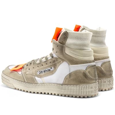 Off-White Off Court Leather & Suede Sneaker