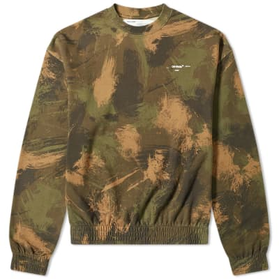 Off-White Paintbrush Oversized Crew Sweat