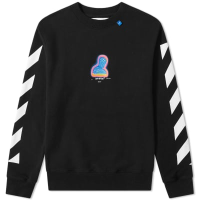 Off-White Thermo Diagonals Crew Sweat