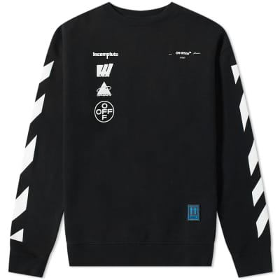 cfae6ac6 Off-White Diagonals Mariana Crew Sweat