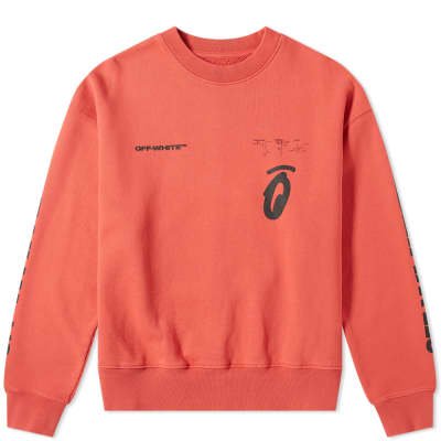 Off-White Split Halftone Arrows Oversized Crew Sweat