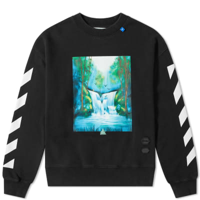 Off-White Waterfall Oversized Crew Sweat