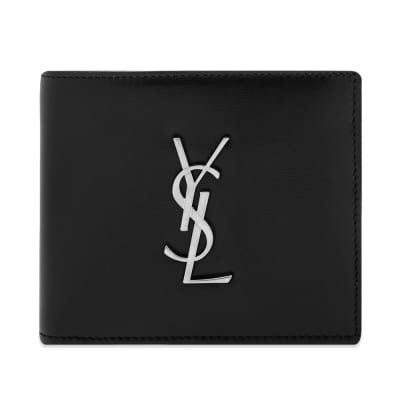 Saint Laurent East West YSL Metal Logo Billfold Wallet