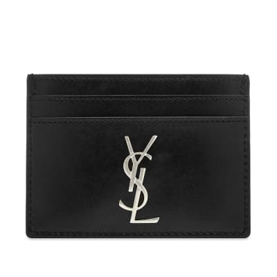 Saint Laurent East West YSL Metal Logo Card Holder