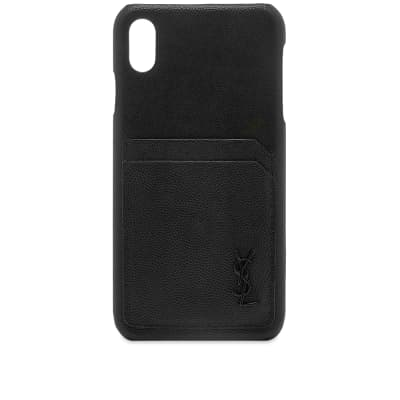 Saint Laurent YSL Metal Logo iPhone XS Case