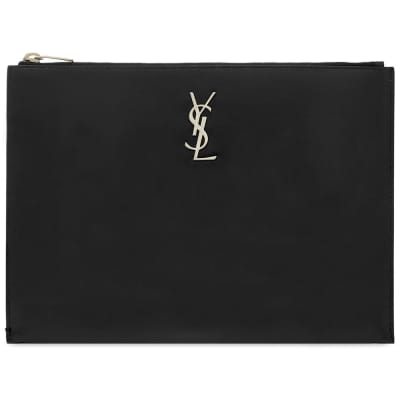 Saint Laurent YSL Metal Logo Tablet Holder
