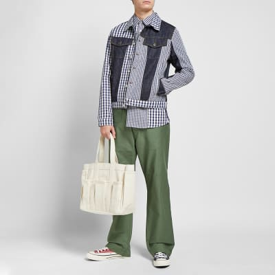 JW Anderson Gingham Panelled Shirt