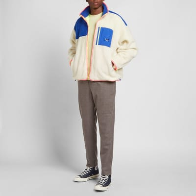 ADER error Colour Block Fleece Jacket