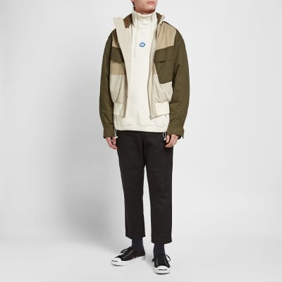 ADER error Colour Block Half Zip Fleece