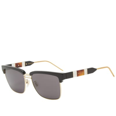 Gucci Sophisticated Web Sunglasses
