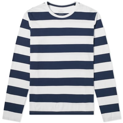 Save Khaki Long Sleeve Rugby Stripe Tee