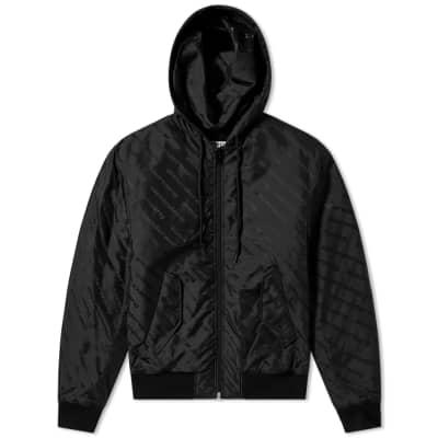 Alexander Wang Logo Jacquard Bomber Jacket
