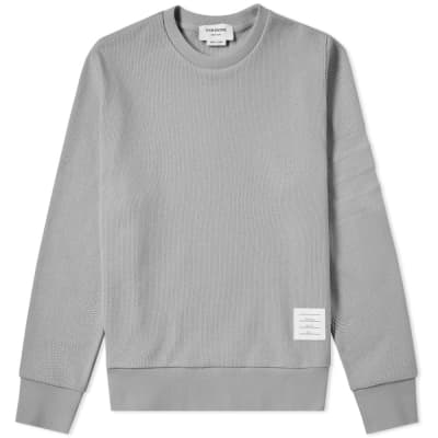 Thom Browne 4 Bar Pique Crew Sweat
