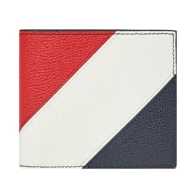 Thom Browne Diagonal Stripe Billfold Wallet