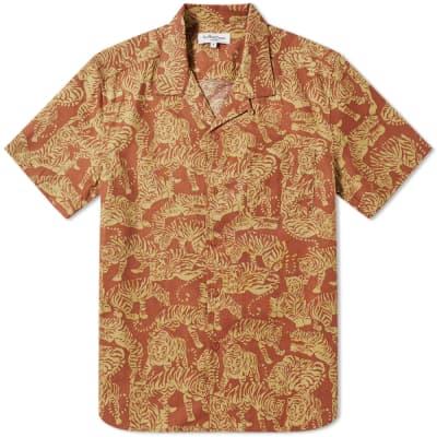 YMC Short Sleeve Tiger Malick Vacation Shirt