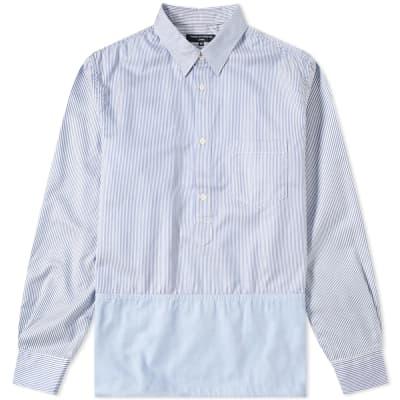 Comme des Garcons Homme Logo Stripe Popover Shirt