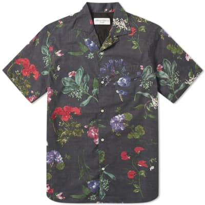 Officine Generale Short Sleeve Dario Floral Print Shirt